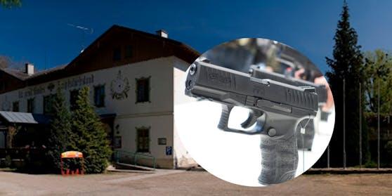 Eine 31-Jährige wurde bei einem ungewöhnlichen Schussunfall im Bezirk Linz-Land schwer verletzt.