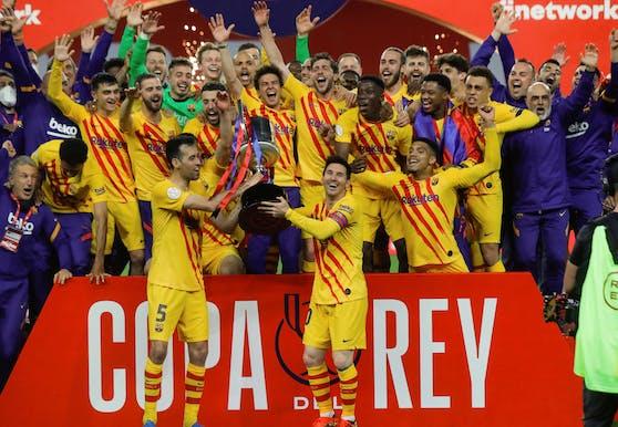 Barcelona bejubelt den Cup-Triumph.