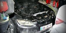 Brüder löschten BMW in Plus-City mit 12 Feuerlöschern
