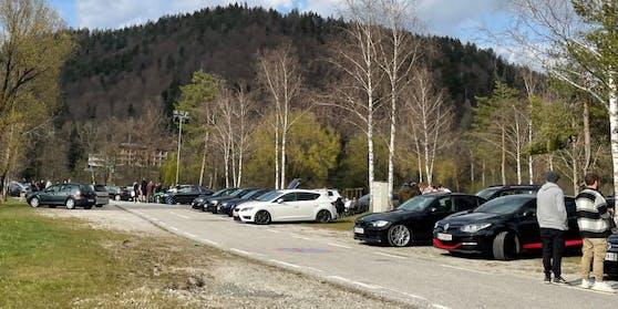 Rund 200 GTI-Autos haben sich am Samstag beim Faaker See versammelt.