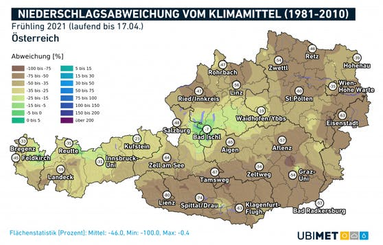 Die historische Regenkarte