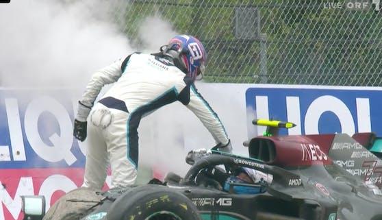 George Russell gegen Valtteri Bottas: Das ist Brutalität in der Formel 1.