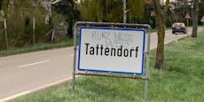 Ortstafeln von Tattendorf mit Parolen beschmiert