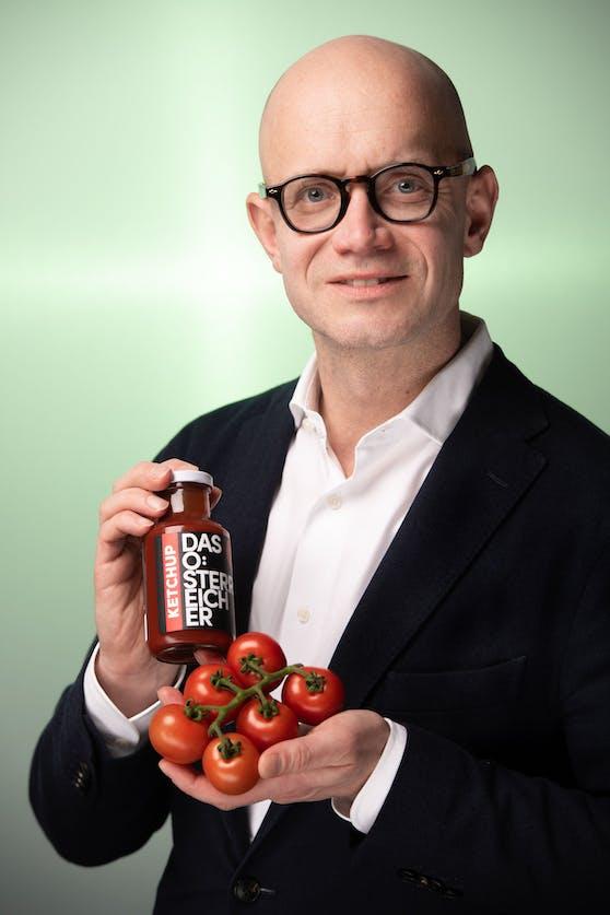 """Im """"Österreicher Ketchup"""" von Peter Spak sind tatsächlich auch nur österreichische Paradeiser drin."""