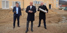 Der Grundstein für neues Cobenzl Café ist jetzt gelegt