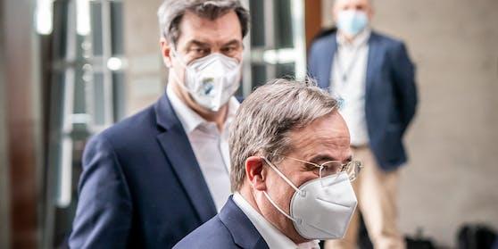 Sowohl CSU-Chef Markus Söder, als auch CDU-Vorsitzender Armin Laschet wollen als Spitzenkandidat zur Wahl antreten.
