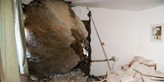 Riesiger Felsbrocken kracht in Tiroler Ferienhaus