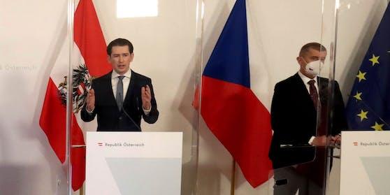 Sebastian Kurz und Tschechiens Regierungschef Andrej Babiš