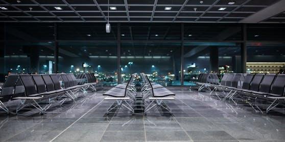 Ein Wartebereich am Frankfurter Flughafen.