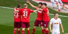 1:2! Leipzig blamiert sich gegen Abstiegskandidat Köln