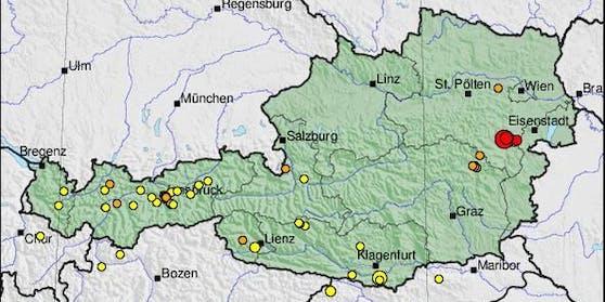Das Beben im Bezirk Neunkirchen hatte eine Stärke von 4,4.