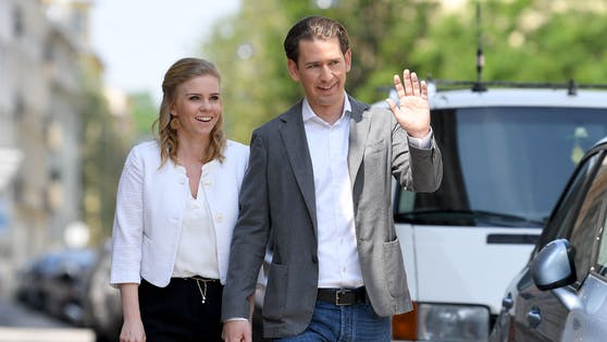 Bundeskanzler Sebastian Kurz mit seiner Susanne