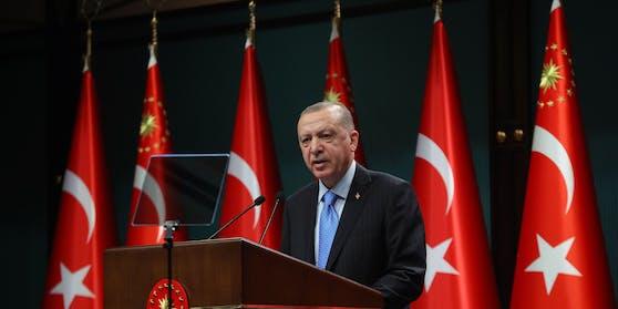 Türkischer Präsident Recep Tayyip Erdogan (Archivfoto aus dem Jänner 2021)