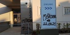 """Vandalen sprayten """"Mörder"""" auf Hainburger-Impfstraße"""