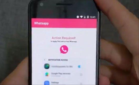 Hierbei handelt es sich nicht etwa um ein neues Farb-Schema für WhatsApp. Viel eher steckt ein gefährlicher Trojaner dahinter.