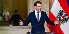 Das versichert Bundeskanzler Kurz jetzt Österreich