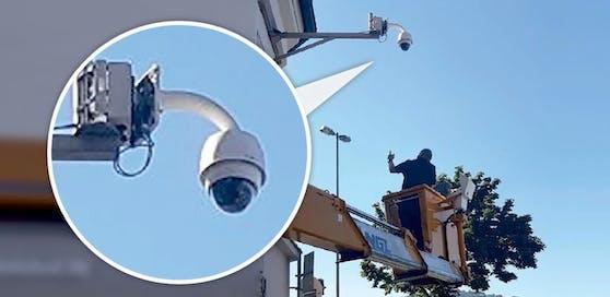 In der Linzer Altstadt wurden mehrere Kameras installiert.