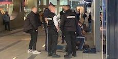 Prügelwütiger geht auf Zeugen los, der Polizei rief