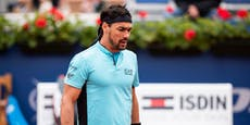 Tennis-Rüpel Fognini schimpft, fliegt aus dem Turnier