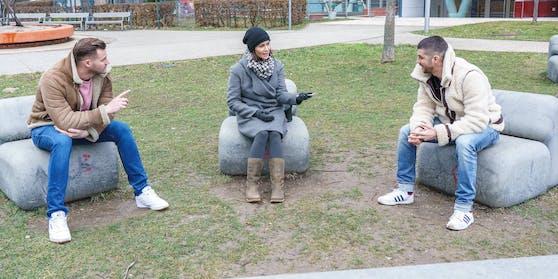 "Paul Pizzera und Otto Jaus im ""Heute""-Talk mit Romina Colerus."