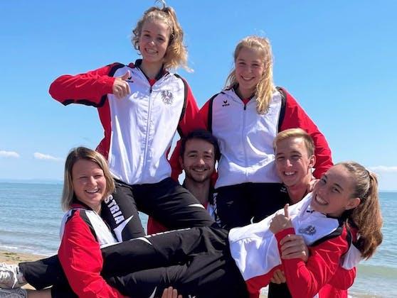Österreichs Flossenschwimm-Nationalteam.