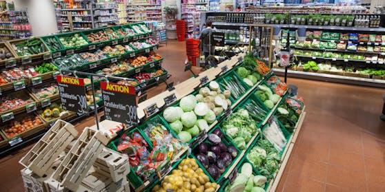 Der Interpar-Supermarkt am Hauptbahnhof Wien.
