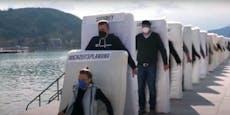 Schräges Video – Unternehmer fallen wie Dominosteine um