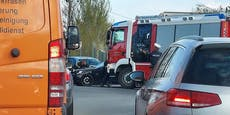 Unfall mit zwei Pkws löst Stau in Wien-Donaustadt aus