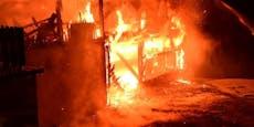 Großbrand in Stübegg fordert 150 Florianis