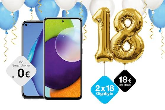 """Drei feiert 18. Geburtstag mit limitiertem """"Birthday 18""""-Tarif."""