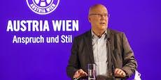 "Austria-Boss verspricht ""schlagkräftige Mannschaft"""
