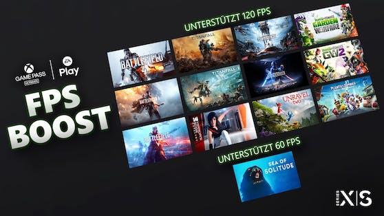 FPS Boost für 13 EA Play-Titel auf Xbox Series X S.