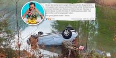 Unfall-Lenkerin suchte auf Facebook nach ihren Rettern