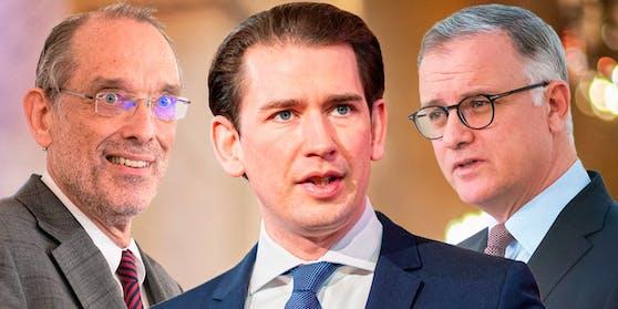 v.l.n.r.: Bildungsminister Heinz Faßmann, Bundeskanzler Sebastian Kurz und MedUni-Wien-Rektor Markus Müller