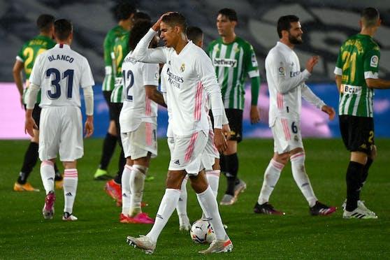 Die Real-Stars sind über das Unentschieden gegen Real enttäuscht.