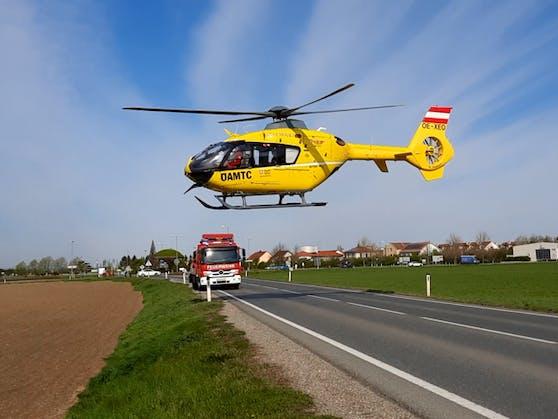 Der Christophorus-Hubschrauber im Einsatz.