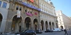 Polizei räumt das besetzte Haus beim Wiener Rathaus