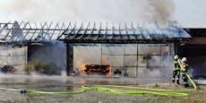 Großbrand in Tischlerei im Bezirk St. Pölten-Land