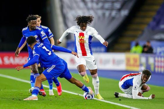 Leicester schlägt Crystal Palace. Im Vordergrund mit der Rückennummer 3: Wesley Fofana.