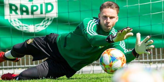 Es war einmal: Tobias Knoflach im Rapid-Training