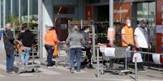 Plakate zeigen, wie viele in Wiener Geschäfte dürfen