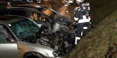 Mann stirbt 90 Minuten nach Frontal-Crash an Unfallort