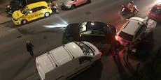 Mercedes-Fahrer donnert in Wiener 30er-Zone in 3 Autos