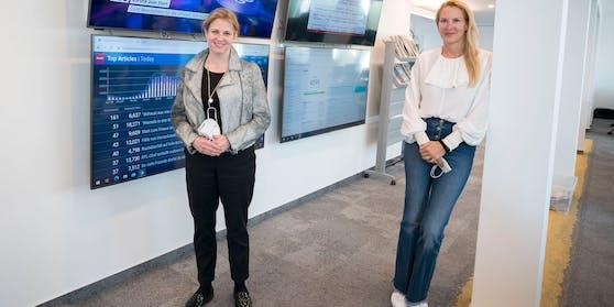 """Neos-Chefin Meinl-Reisinger mit """"Heute""""-Chefin Eva Dichand"""
