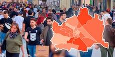 In diesen Wiener Bezirken wütet Corona am schlimmsten