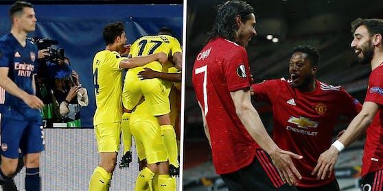 Arsenal verliert gegen Villarreal. United feiert gegen die Roma ein Schützenfest.