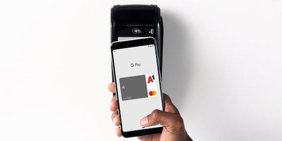 Mit Google Pay lässt sich nun auch die A1 Mastercard hinzufügen.