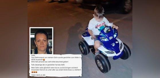 Unbekannte stahlen schon wieder das Elektro-Quad von Leon. Die Mama postete den Vorfall auf Facebook.