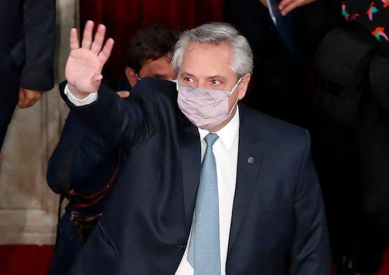 Argentiniens Präsident Alberto Fernandez hat trotz Impfung Corona.