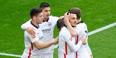 2:1! Hütters Frankfurter zwingen Dortmund in die Knie